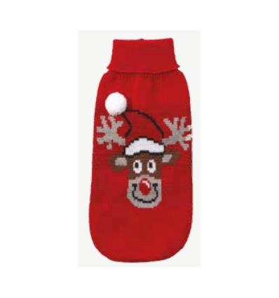 Xmas Pull Red Rudolph
