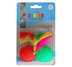 Balle de golf avec plume