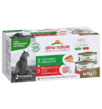 HFC Multipack 4x70g Made in Italy dinde grillée / jambon fromage